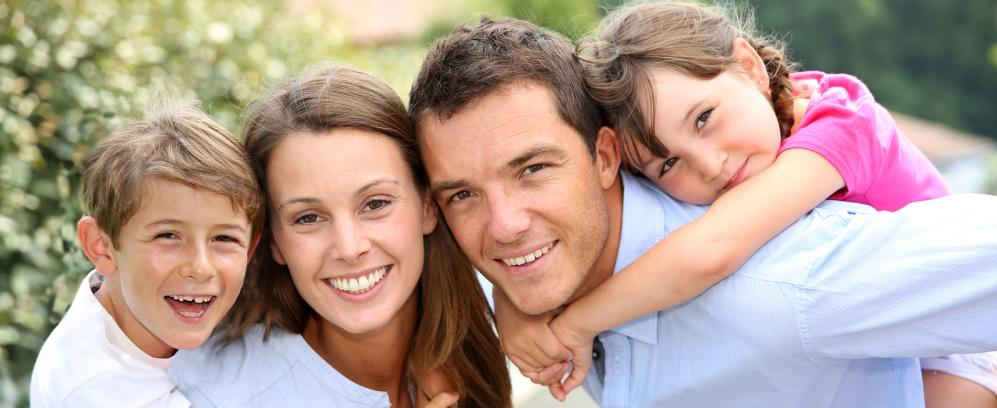 Family excited for chiropractic care.